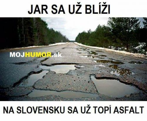 Asfalt na Slovensku