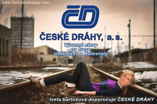 Iveta Bartošová doporučuje české dráhy
