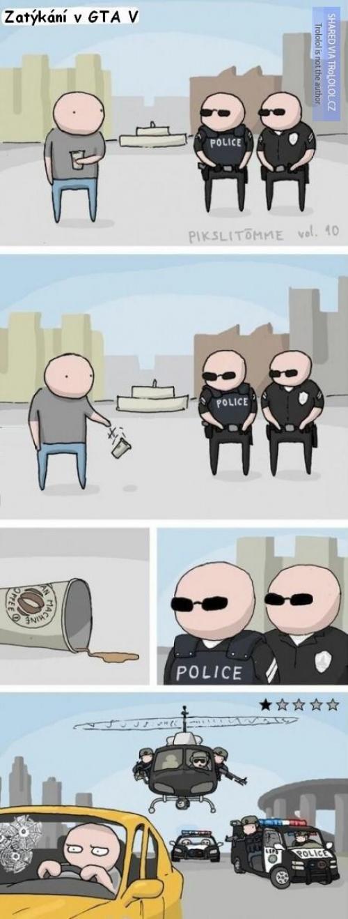 Policejní zatýkání v GTA V