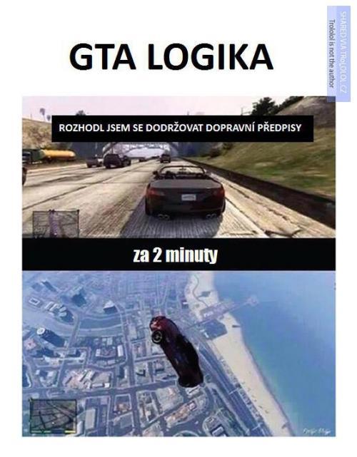 Když se rozhodneš dodržovat dopravní předpisy v GTA