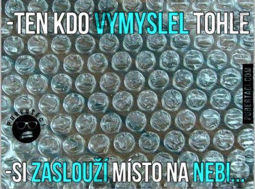 Praskací bublinky