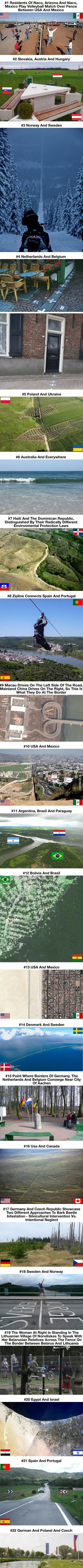 Hranice mezi různými státy světa