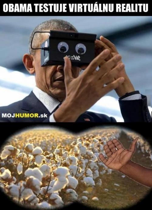 Obama a virtuální realita