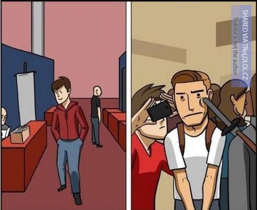Setkání nerdů dříve a dnes