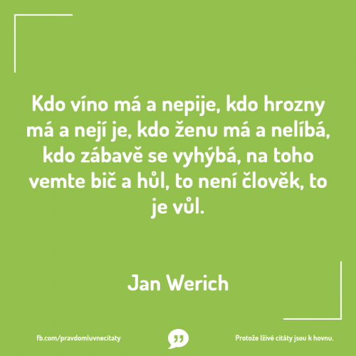 Jan Werich - citát