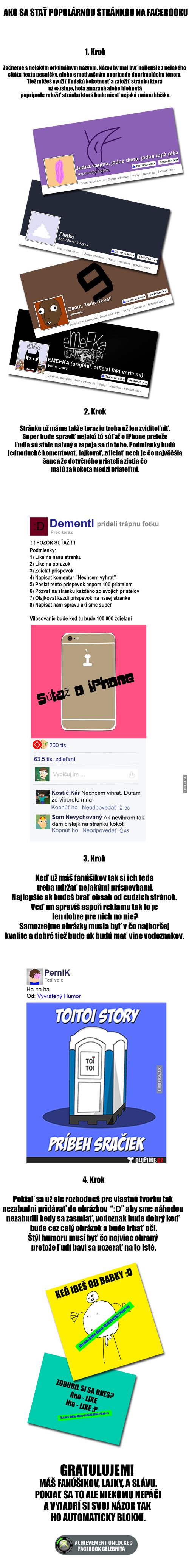 Jak udělat slavnou FB stránku
