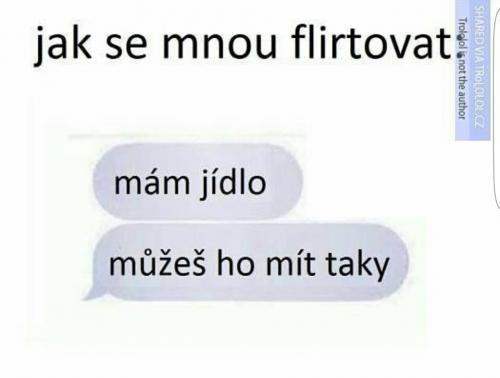 Jak se mnou flirtovat