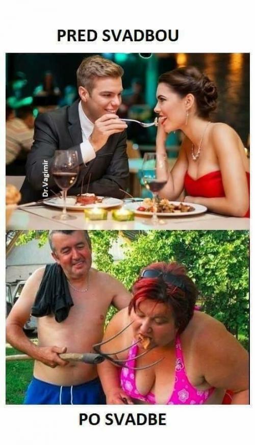 Jak to vypadá před svatbou a po svatbě