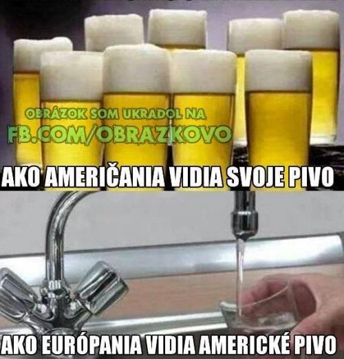 Američané a pivo