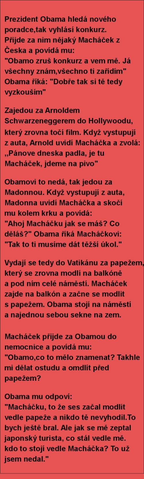 Obama a borec z Česka