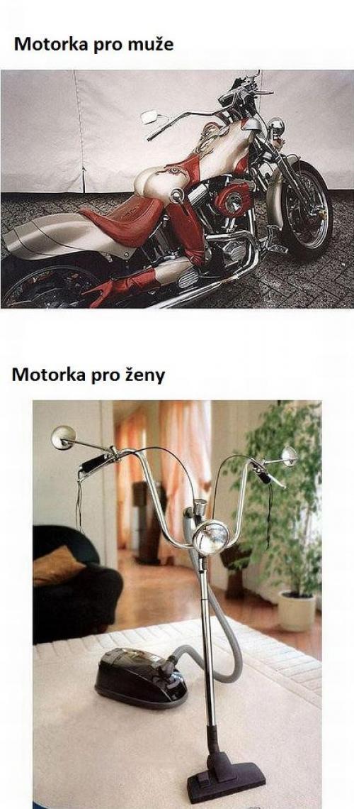motorka pro muže a pro ženu