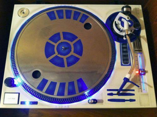 Modrý gramofon
