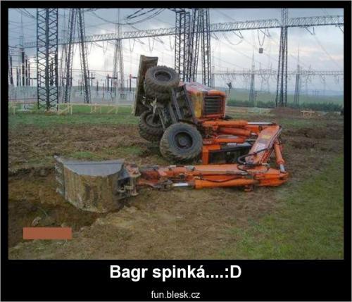 Bagr spinká