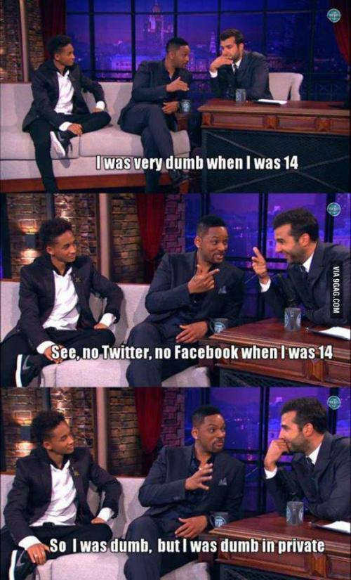 No twitter, no facebook