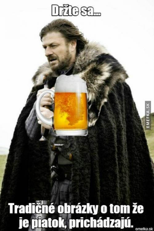 Pátek a alkohol je tu