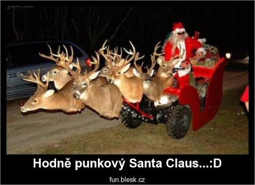 Punkový Santa Claus...:D