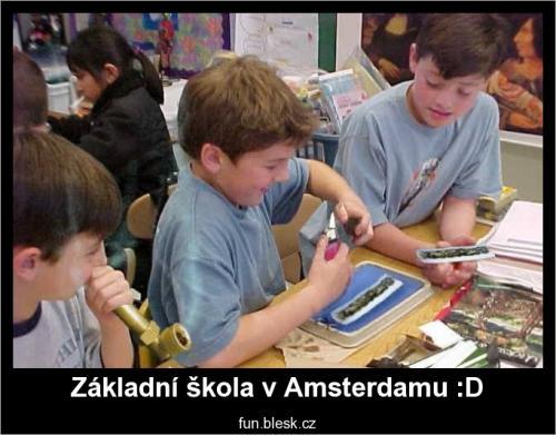 Základní škola v Amsterdamu