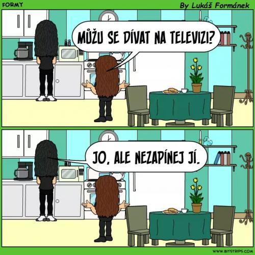Můžu se dívat na televizi?