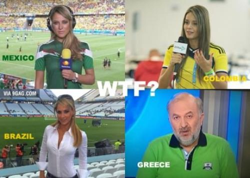 Komentátoři na fotbale