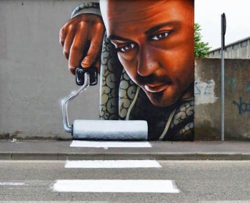 Oční klam na ulici