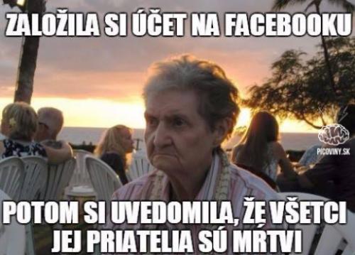 Důchodkyně a FB