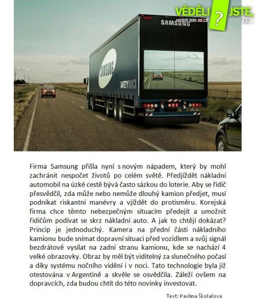 Bezpečné předjíždění kamionů