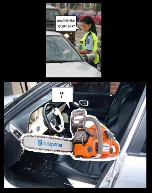 Paní řidičko, vy jste pila