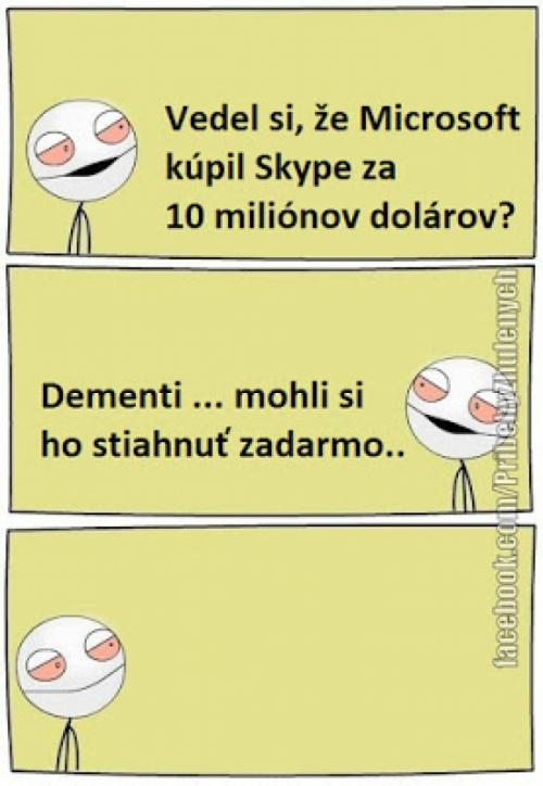 Microsoft koupil Skype