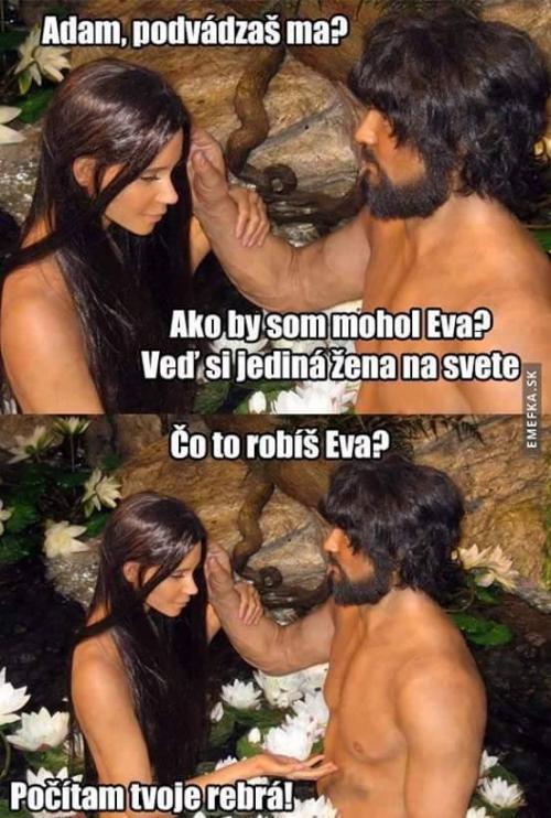 Adam a Eva, jediný pár na světě