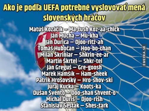 UEFA návod pro komentátory