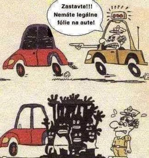 Černá fólie na auto