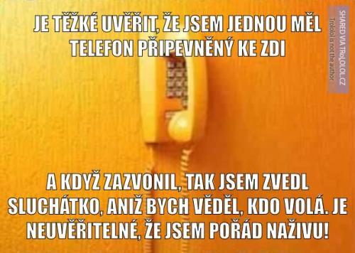 Dřívější doma a telefony