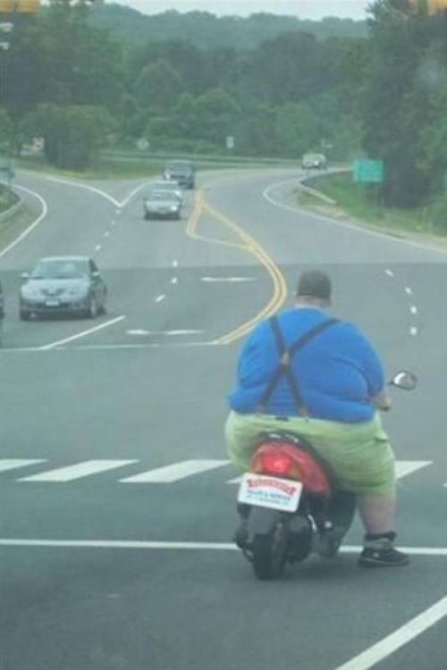 Silnější motocyklista