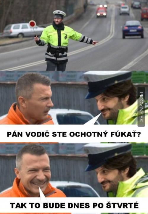 Opilý pan řidič, kterého zastavil pan policajt