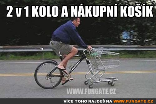 2v1 kolo a nákupní košík