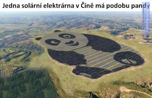 Solární elektrárna v Číně