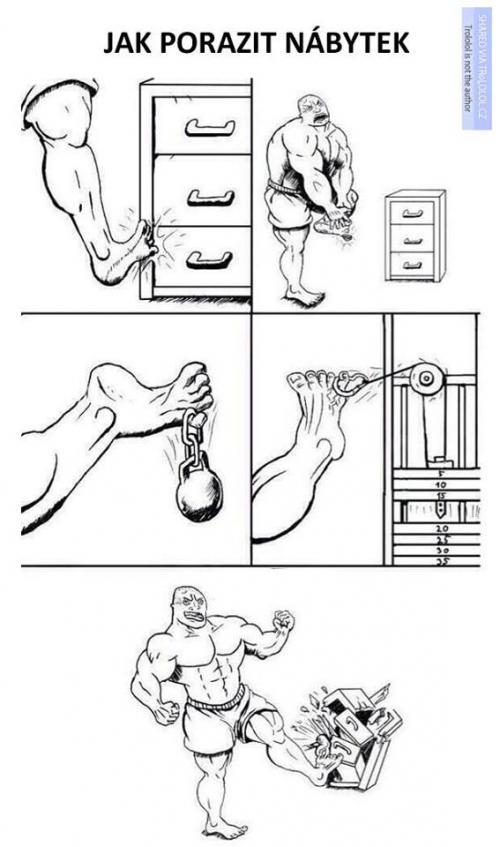 Jak porazit nábytek