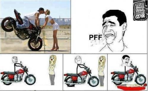 Motorka a holky