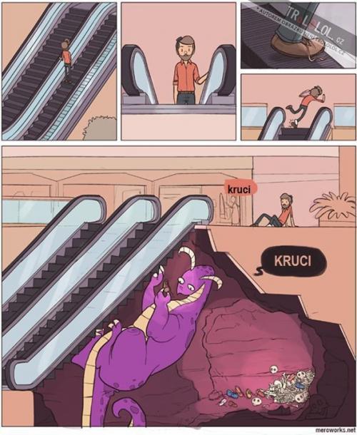 Jak fungují eskalátory