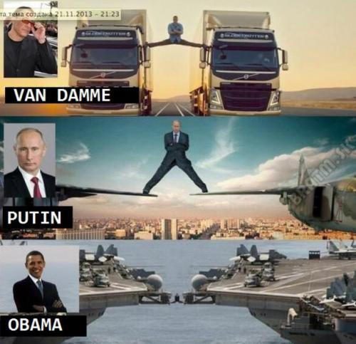 Van Damme, Putin a Obama