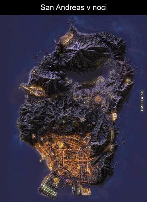 San Andreas v noci