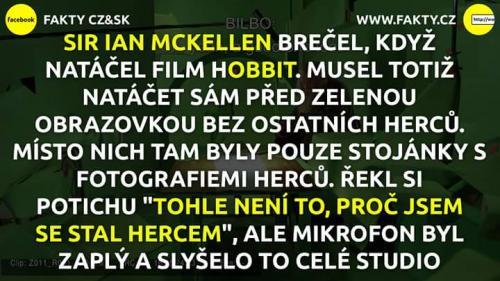 Při natáčení Hobbita