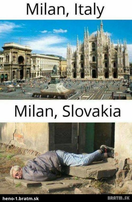 Milan Italy vs. Milan Slovakai