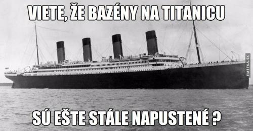 Bazény na titanicu