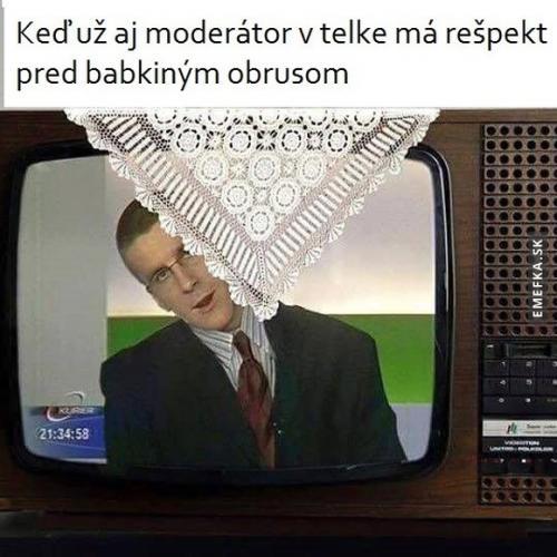 Moderátor v televizi