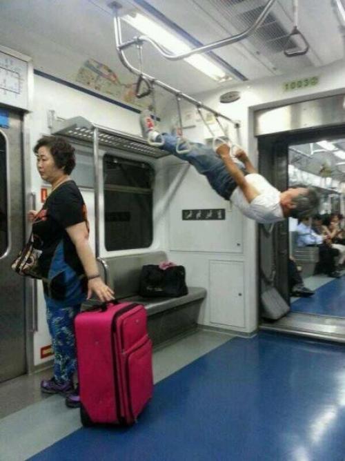 Posilování v metru