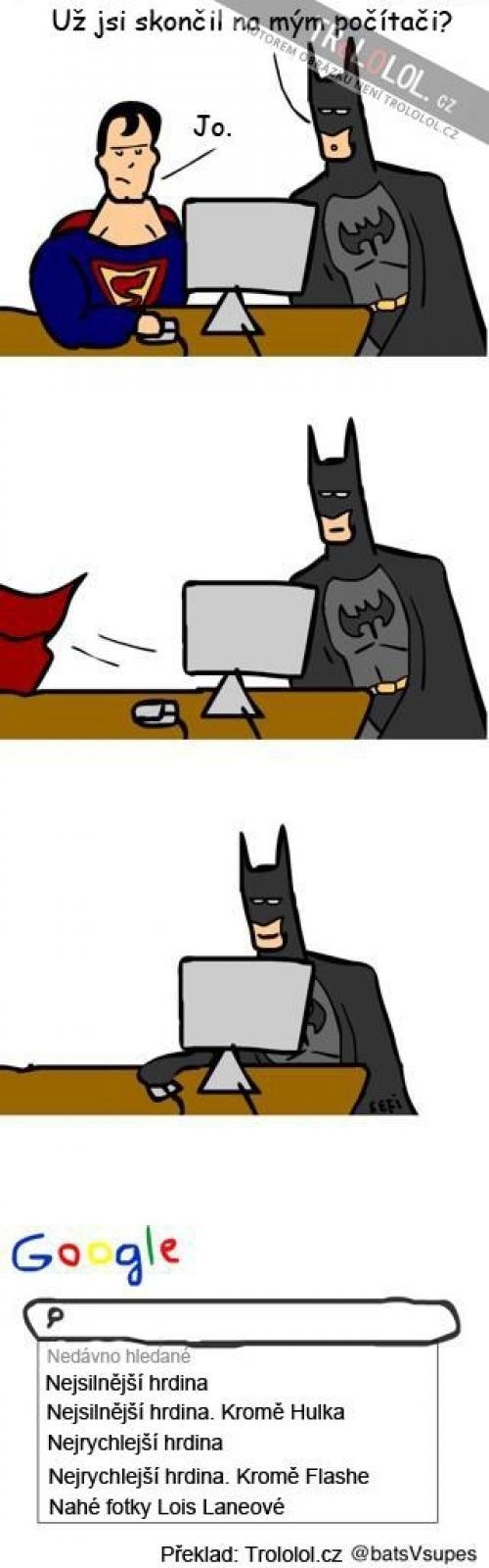 Supermanova internetová historie