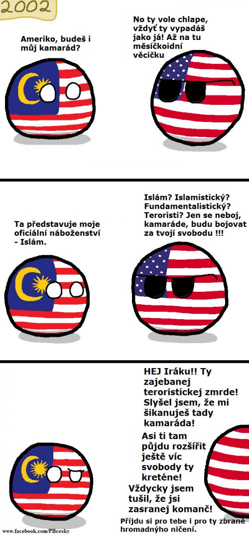 Malajsie hledá kamaráda