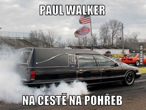Paul Walker na cestě na pohřeb