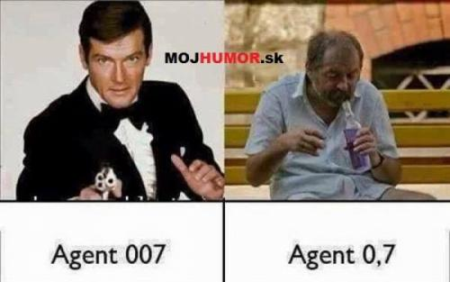 Agent 007 vs. agent 0,7